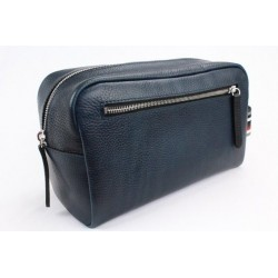 Pittards Attacama Blue Large Wash Dopp Kit