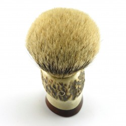 Custom Shaving Brush In Stag Antler