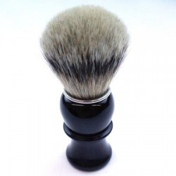 TI Silvertip Badger Black Horn Shave Brush