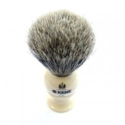 Kent Pure Grey Badger Ivory Effect Shaving Brush from The Invisible Edge