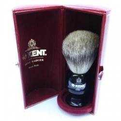 Kent Pure Grey Badger Ebony Effect Shaving Brush from The Invisible Edge