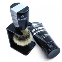 "Kent ""Wet Set"" Brush, Stand and Shave Cream Set"
