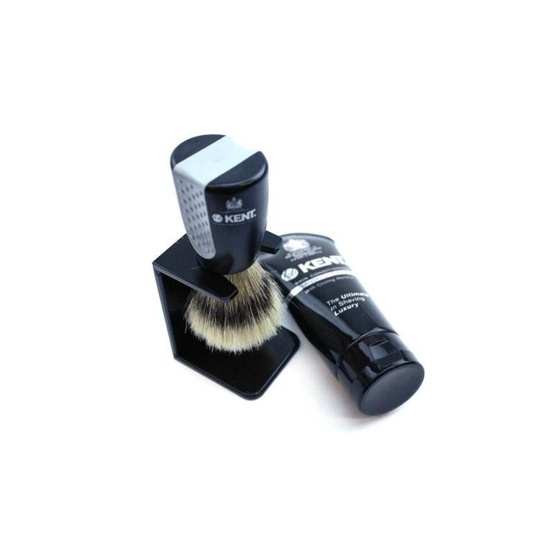 "Kent ""Wet Set"" Brush, Stand and Shave Cream Set"