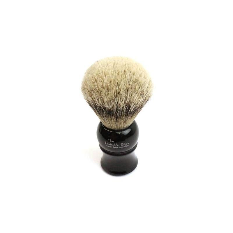 Invisible Edge Silvertip Badger Black Shaving Brush
