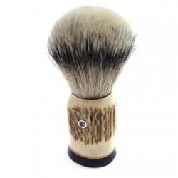 Custom Shaving Brush In Stag Antler