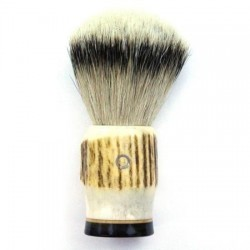 Custom Shaving Brush In Stag Antler  - 1