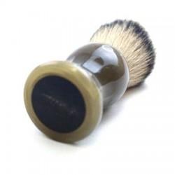 Custom Shaving Brush In Blonde Horn  - 5