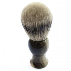 Custom Shaving Brush In Faux Buffalo Horn
