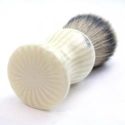 Custom Shaving Brush In Pink and White Striped Polyester