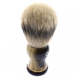 Custom Shaving Brush In Faux Blonde Horn