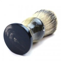 Custom Shaving Brush In Faux Blonde Horn