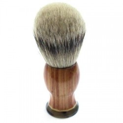 Custom Shaving Brush In Tulip Wood