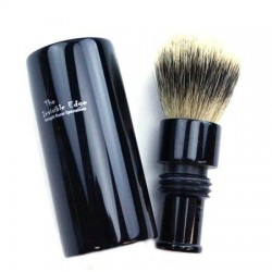 Invisible Edge Silvertip Badger Travel Shave Brush