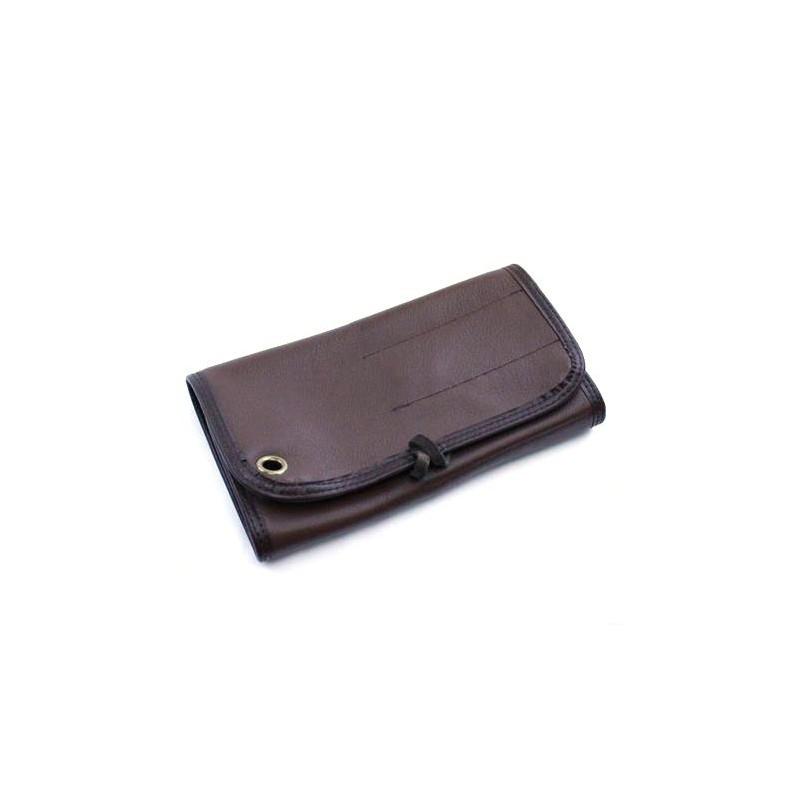 Brown Leather 7 Razor Roll