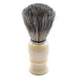 TI Pure Badger White Plastic Shave Brush