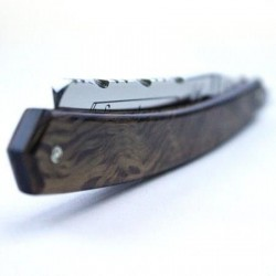 TI 5/8 Spotted Oak Chevron Spine Razor Thiers-Issard - 6