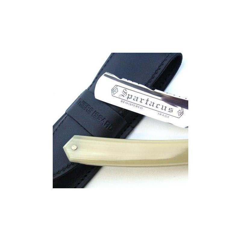 TI 5/8 Blonde Horn Razor With Wheatfield Spine Design Thiers-Issard - 1