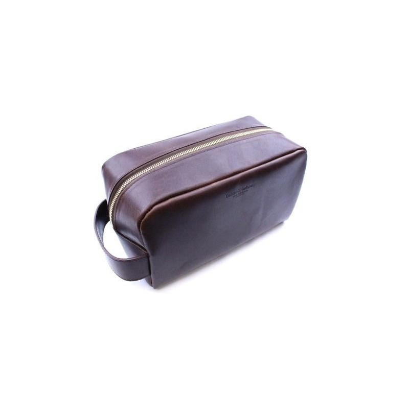 Daines & Hathaway Dopp Kit in Brooklyn Chestnut Leather