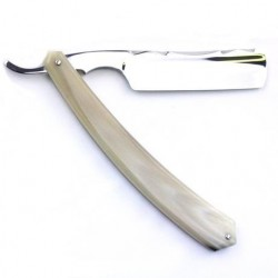 TI 6/8 Razor with Blonde Horn Scales and Festonne Spine