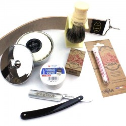 InvisibleEdge Starter Kit Traditional Kent Version with Dovo Straight Razor