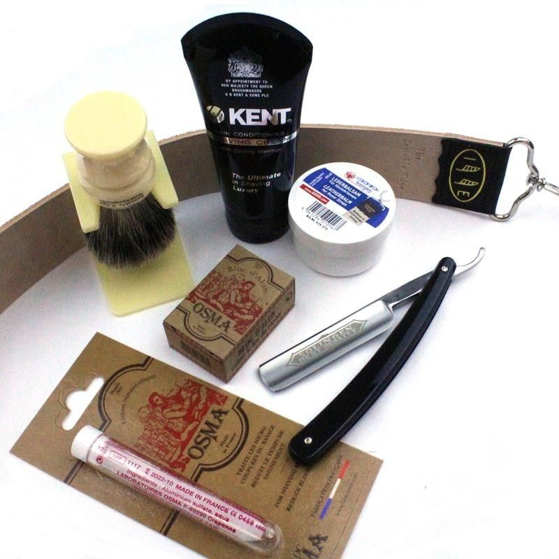 Invisible Edge Starter Kit Modern Kent Version with Dovo Straight Razor