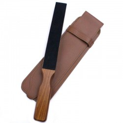 Invisible Edge luxury travel strop with tan case