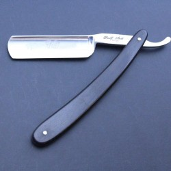Ralf Aust 6/8 stainless steel straight razor with African Blackwood scales
