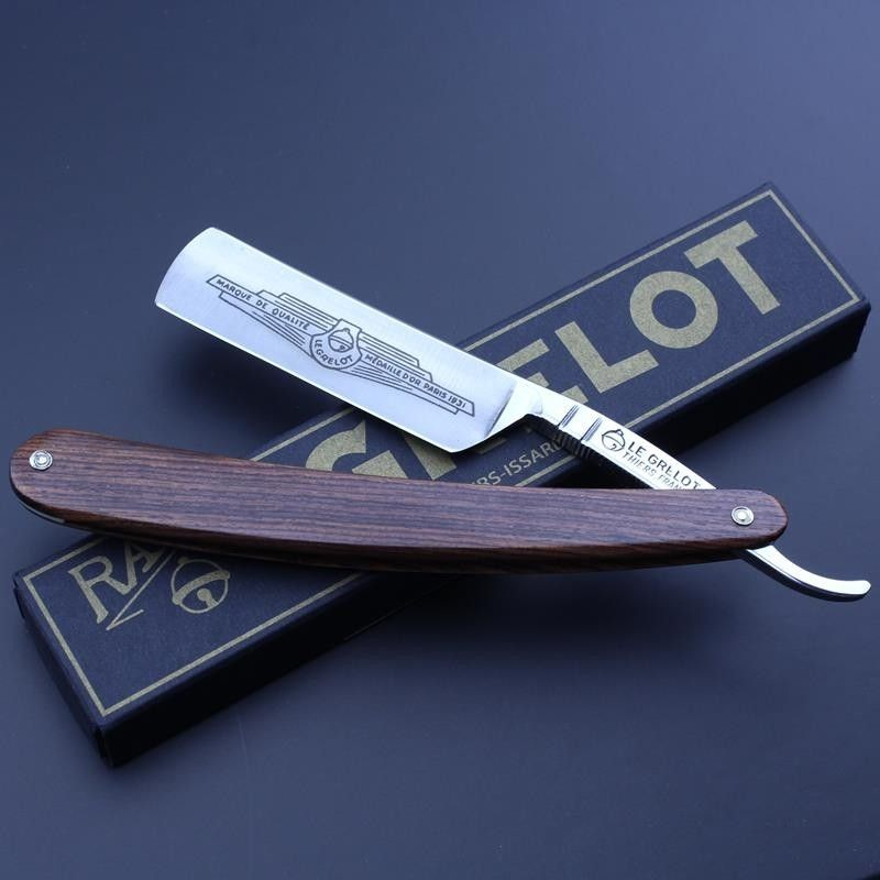 Thiers Issard Grelot Straight Razor With Kingwood Scales