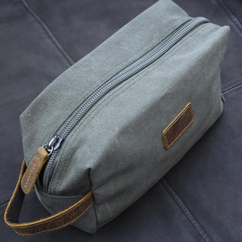 IE Canvas Dopp Kit Wash Bag