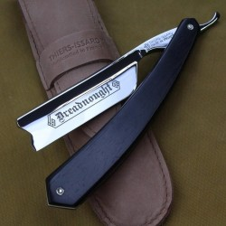 Thiers Issard 7/8 Ebony Hook Nose Razor with Dreadnought Mark