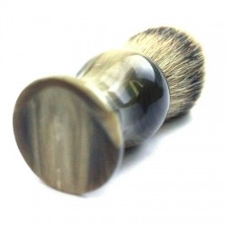 Custom Shaving Brush with faux blond horn handle