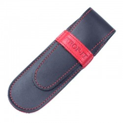 Strop-It Black And Red Leather Razor Wallet