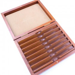 TI Deluxe Beech Box For Seven Razors