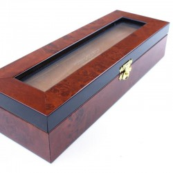 Deluxe Burl Elm Box For Two Razors