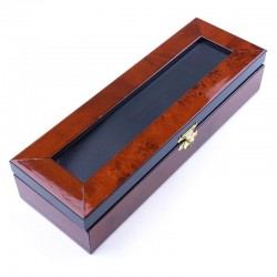 Deluxe Burl Elm Box One Razor