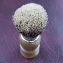 TI Super Badger Blonde Horn Shave Brush