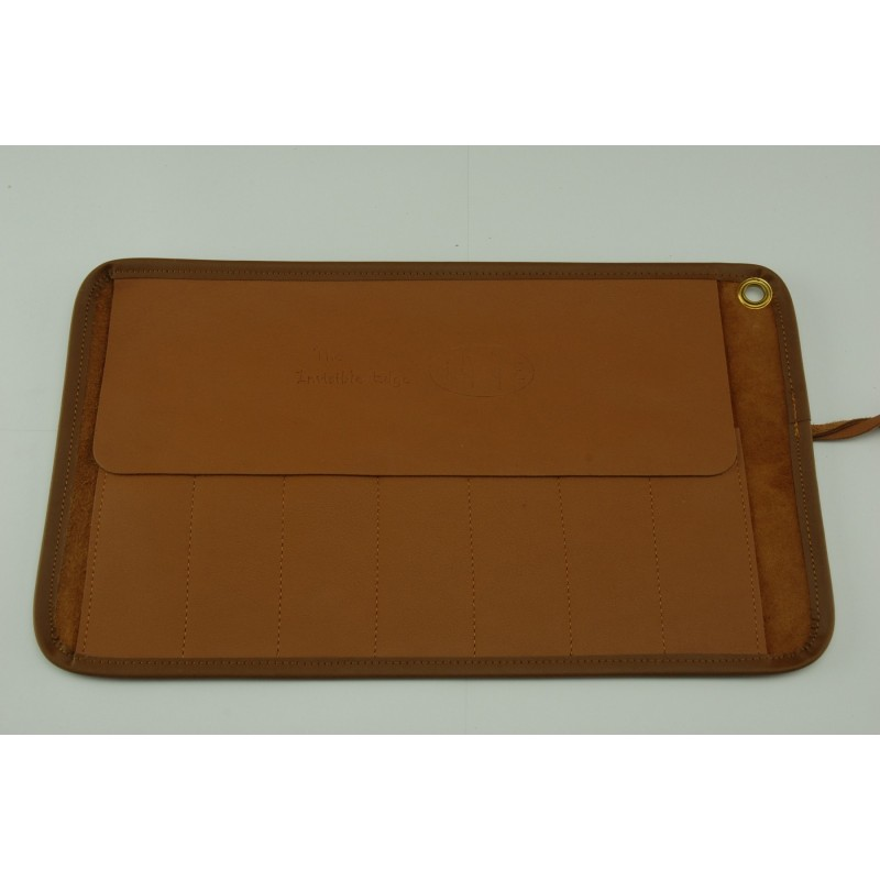 Invisible Edge Tan Leather 7 Razor Roll