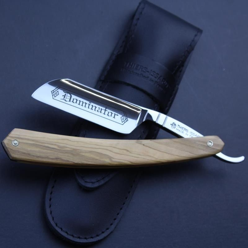 Thiers Issard 6/8 Razor with Olivewood Scales French Nose and Dominator Mark