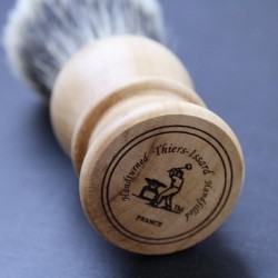 Thiers Issard Super Badger Pear Wood Horn Shave Brush Thiers-Issard - 2