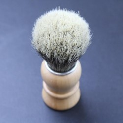 Thiers Issard Super Badger Pear Wood Horn Shave Brush Thiers-Issard - 3