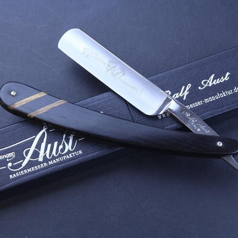 Ralf Aust 5/8 Razor with Inlaid African Blackwood Scales