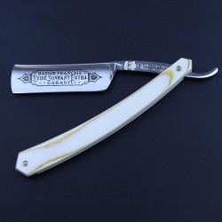 TI 6/8 Evide Sonnant Razor With White Micarta Scales