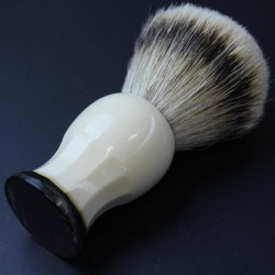 Invisible Edge Faux Ivory Custom Shaving Brush