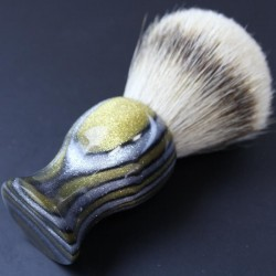 Invisible Edge Gold and Silver Custom Shaving Brush